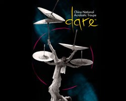 "Promotional graphic for the show ""Dare"" with the China National Acrobatic Troupe."