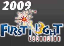 Promotional graphic for the First Night Escondido 2009 event on December 31, 2009.