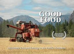 "Promotional graphic for the film ""Good Food"" courtesy of Moving Images Video Project."