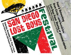 Promotional graphic for the San Diego Lost Boys Festival on November 21, 2009 from 1-4 p.m. at the University of San Diego.