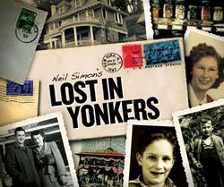 """Promotional graphic for """"Lost in Yonkers"""" with performances at the Old Globe Theatre, Saturday, January 23 - Sunday, February 28, 2010. © The Old Globe Theatre"""