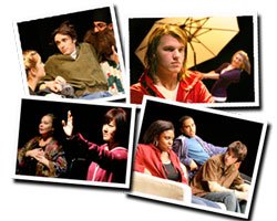 Photo montage of actors from the Plays by Young Writers Festival.