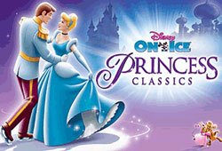 "Promotional graphic for Disney on Ice ""Princess Classics,"" October 7-11, 2009 at the San Diego Sport Arena."