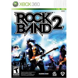 Graphic cover of Rock Band 2 for Xbox 360.
