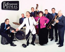 Promotional photo of The Screamin' Primas, a Louis Prima tribute band.