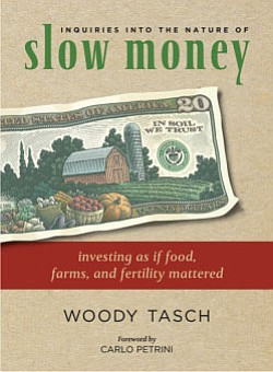 "Book cover for ""Inquiries into the Nature of Slow Money"" by Woody Tasch."