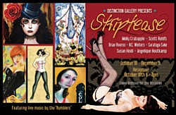 "Promotional graphic for the ""Striptease"" exhibit at Disti..."