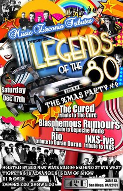 'Legends of the 80's' Xmas party poster.