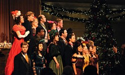 "The cast of ""An American Christmas."" Photo by Ken Jacques."