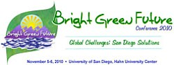 'Bright Green Future' Conference Flyer for 2010