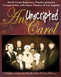 Promotional flyer for the unscripted performance of a holiday favorite.