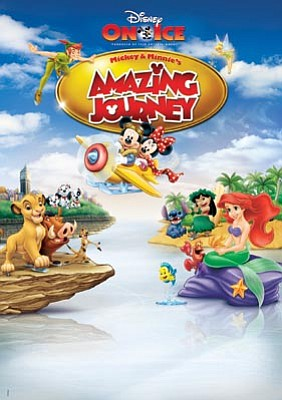 Event graphic for Disney on Ice's production of Mickey and Minnie's Magical Journey.