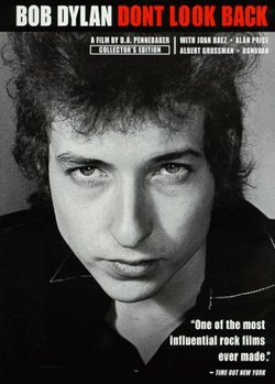 "Cover image for the documentary covering Bob Dylan's 1965 tour of England, ""Don't Look Back."""