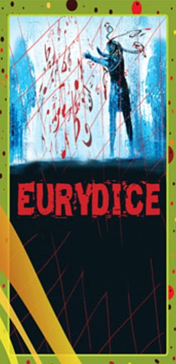 "Graphic poster for the play, ""Eurydice."""