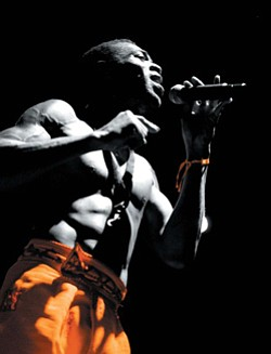 Image of Femi Kuti performing live at Lagos in Nigeria.