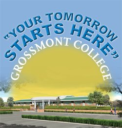 Flyer for Grossmont College Adult Reentry Center's 'Your Tomorrow Starts Here' event.