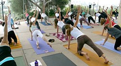 Image of a group yoga session at Karma Yoga San Diego.