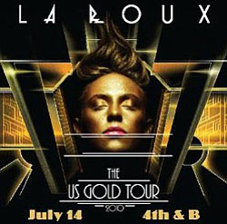 Event graphic for La Roux's Goldenvoice- The US Gold Tour 2010 at 4th & B.