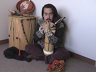 Instrument maker and performer, Martin Espino.