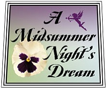A Midsummer Night's Dream Production Logo