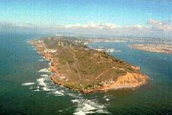 Graphic Image provided by NPS: Cabrillo National Monument lies at the tip of the Point Loma Peninsula, just west of the city of San Diego.