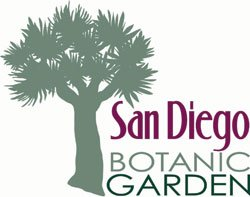 Graphic logo for the San Diego Botanic Garden, located at 230 Quail Gardens Drive, Encinitas CA.