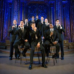Straight No Chaser, a ten-member acapella group. Photo credit: Andrew Zaeh