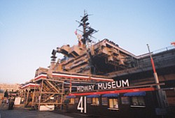 Photo of the USS Midway Museum entrance. Courtesy of USS Midway Museum