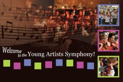 Graphic collage of the Youth Artist Orchestra.