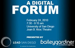 Promotional graphic for A Digital Forum hosted by LEAD Sa...