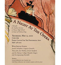 "Event flier for ""A Night at the Opera"" on May 13 at the P..."