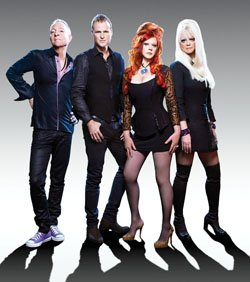 Image of the band B-52s, who will take the stage on August 6 at the Del Mar Fairgrounds.