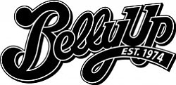 Graphic logo for the Belly Up Tavern, located at 143 S. C...