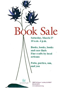 Book sale event flier.