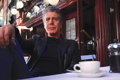 "Image of internationally acclaimed chef, author, and host of Travel Channel's ""No Reservations,"" Anthony Bourdain."