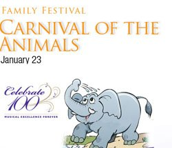 Graphic image of San Diego Symphony's Carnival Of The Animals on Jan. 23, 2011.