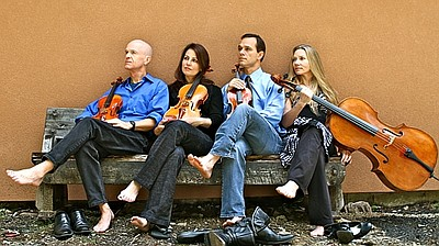 Image of the members of the Carpe Diem String Quartet; vi...