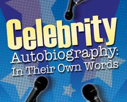 """Promotional graphic for """"Celebrity Autobiography: In Their Own Words"""""""