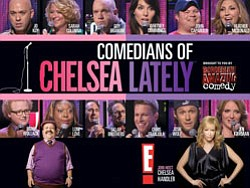 "Promotional graphic for the Comedians of ""Chelsea Lately."""
