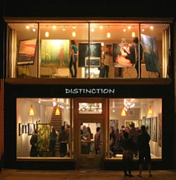 Exterior shot of Distinction Gallery, located at 317 East Grand Avenue, Escondido, CA 92025.