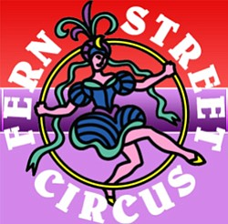 Graphic logo of the Fern Street Circus.
