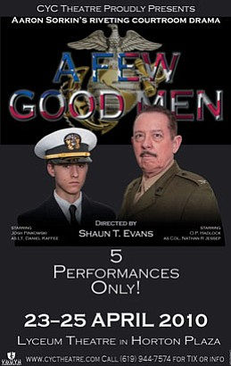 "Graphic image for the production, ""A Few Good Men."""