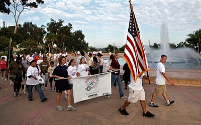 Photo of participants in the 2009 Freedom Walk.