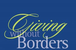 Graphic logo for the International Community Foundation's Giving without Borders celebration on Oct. 23, 2010.