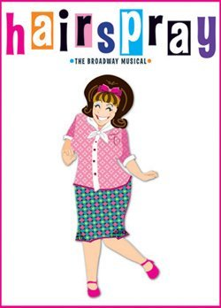"Promotional image for the musical ""Hairspray."""