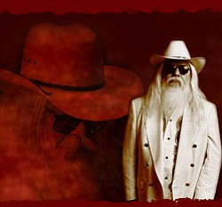 Leon Russell poses in an all white suit. His live performance is December 16th, 2010 at 8p.m.