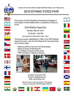 Event graphic for the HPR Ethnic Food Fair.