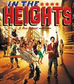 """In the Heights"" promotional graphic and CD cover image."