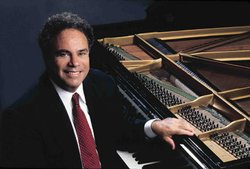 "Photo of distinguished American pianist, Jeffery Siegel, of ""Keyboard Conversations."""
