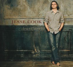 "Graphic cover of Jesse Cook's latest release ""Frontiers."""